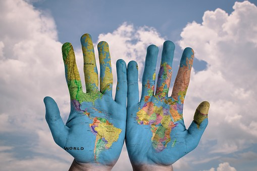 world on hands