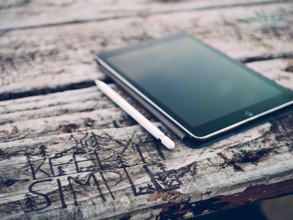 Keep it simple iPad on table